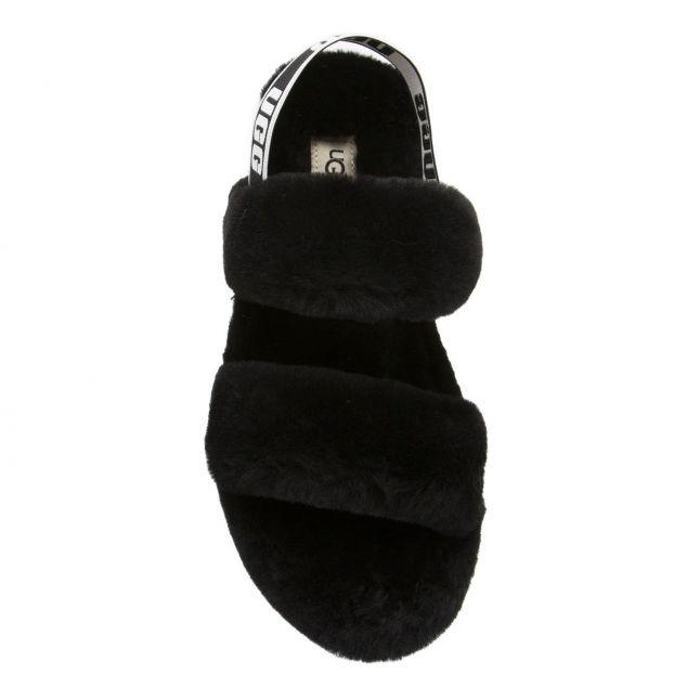 Womens Black Oh Yeah Slide Slippers