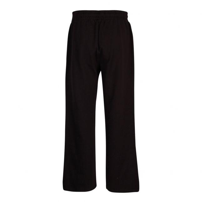 Womens Black Logo Tape Sweat Pants