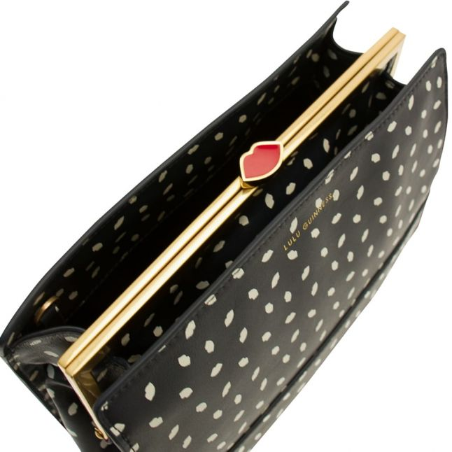 Womens Navy & Porcelain Mini Lip Daphne Cross Body Bag