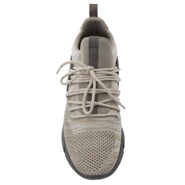Mens Sand Rapide Knitted Trainers
