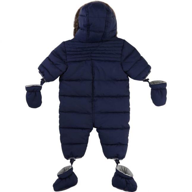 Baby Navy Fur Trimmed Snowsuit