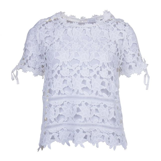 Womens Cloud Dancer Viclarna S/s Lace Top