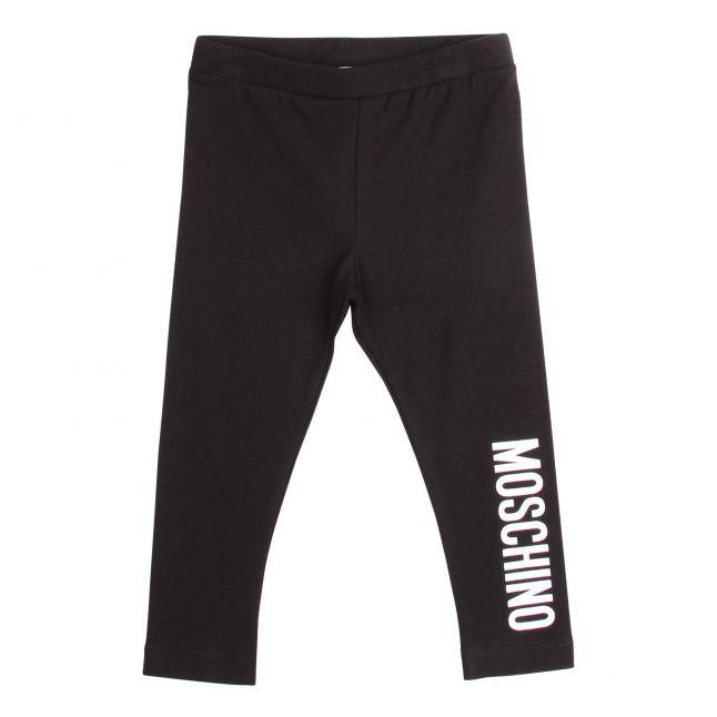 Moschino Baby Black Logo Leggings