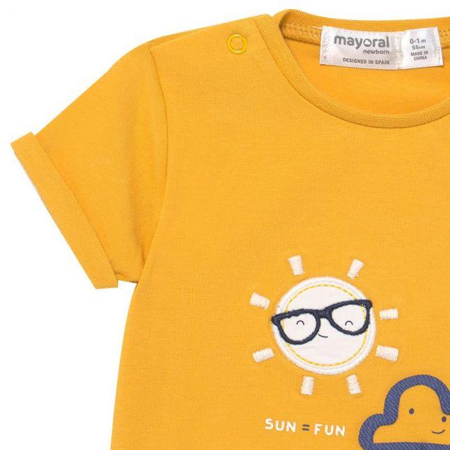 Baby Yellow/Blue Sun Top & Shorts Set