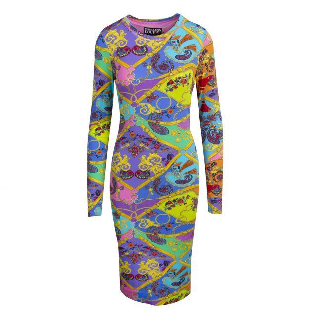 Womens Multicoloured Paisley Belt Print Midi Dress