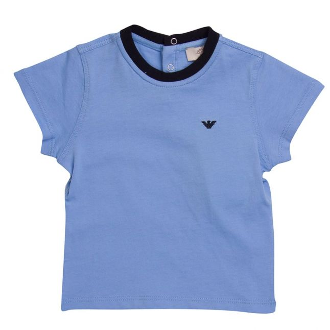Baby Pale Blue S/s Small Logo Tee Shirt