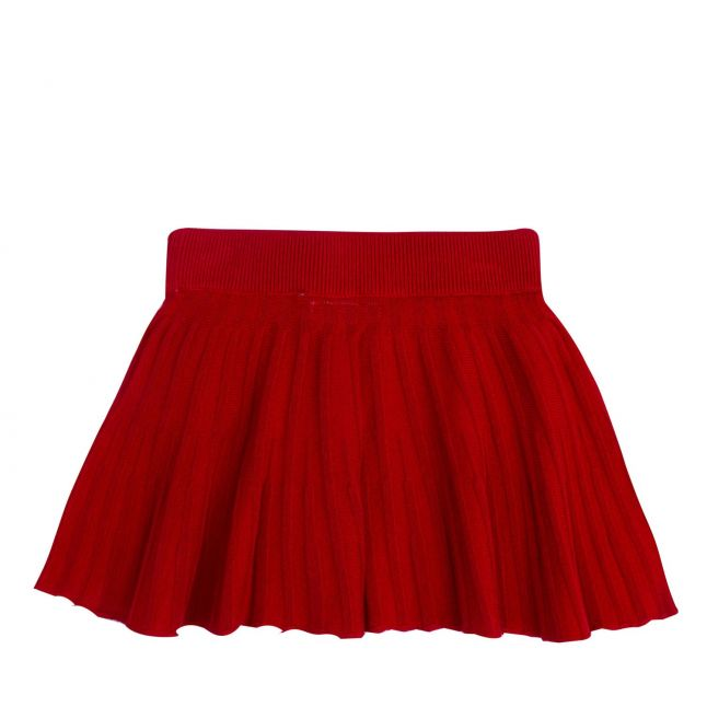 Infant Red Pleated Knit Skirt