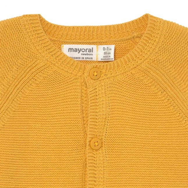 Baby Yellow Knitted Cardigan