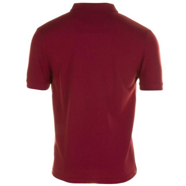 Mens Pomegranate Winston Waffle Front S/s Polo Shirt