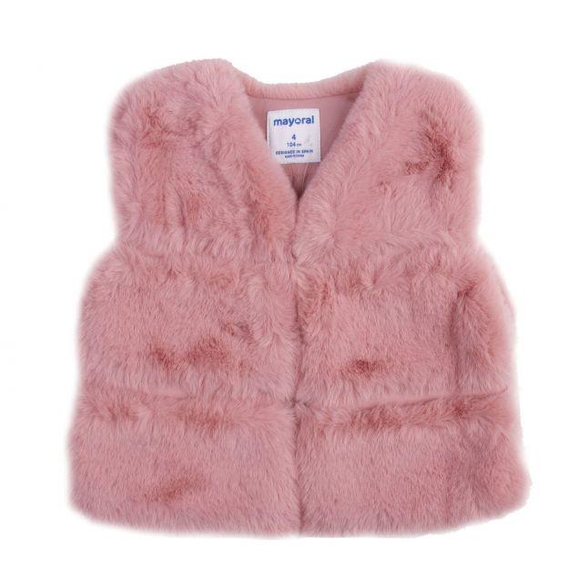Mayoral Girls Blush Faux Fur Gilet