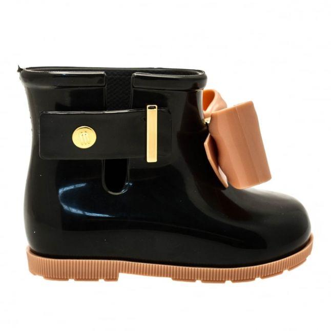 Girls Black Sugar Rain Bow Boots (4-9)