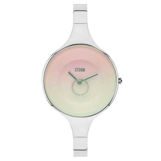 Womens Pink Dial Silver Ola Watch