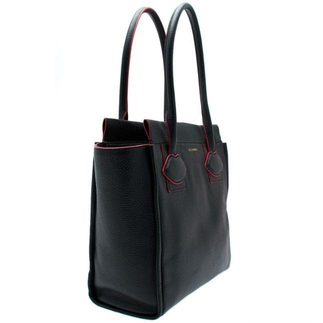 Womens Black Lyra Leather Medium Bag