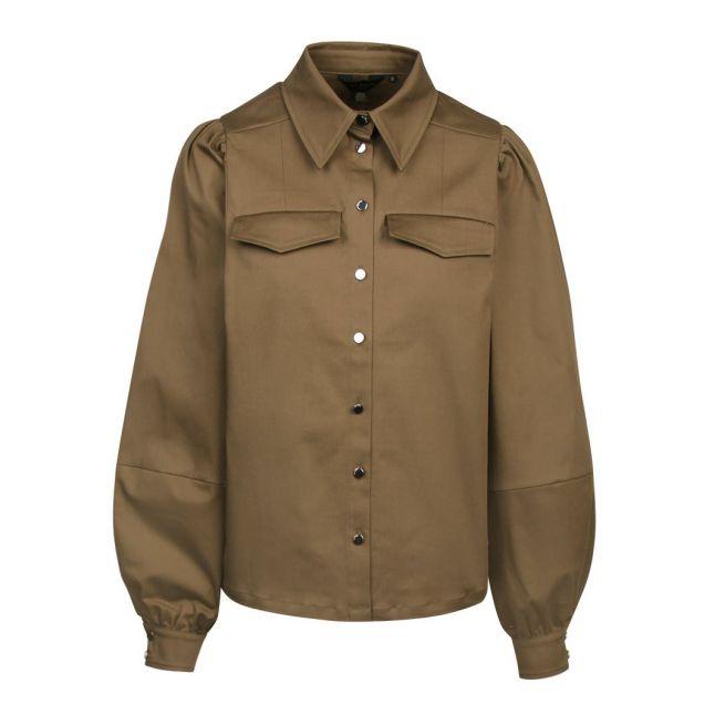Womens Khaki Damarii Utility Overshirt