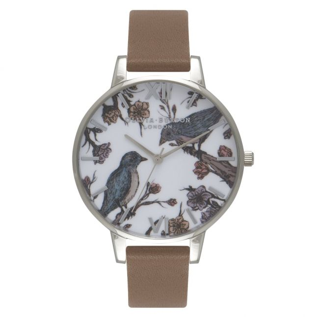 Womens Taupe & Silver Woodland Watch