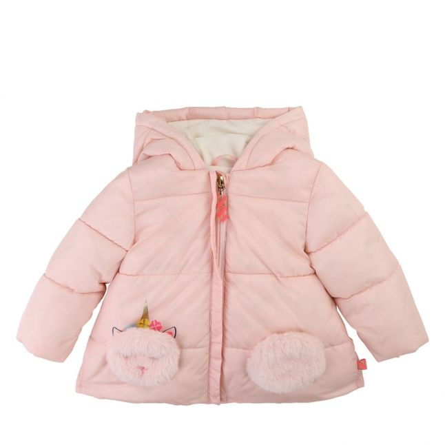 Baby Pink Unicorn Padded Coat
