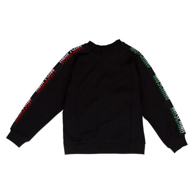 Boys Black Logo Tape Sweat Jacket