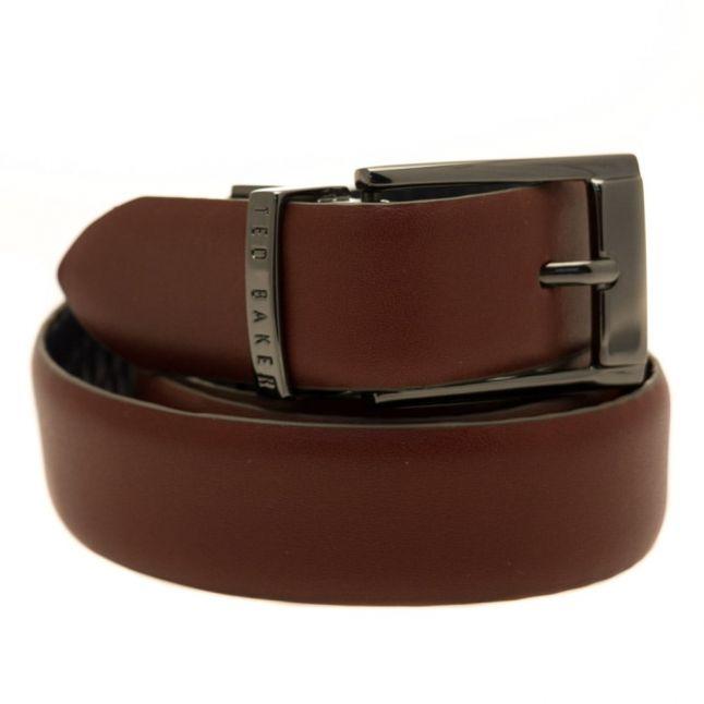 Mens Tan Zazza Reversible Belt
