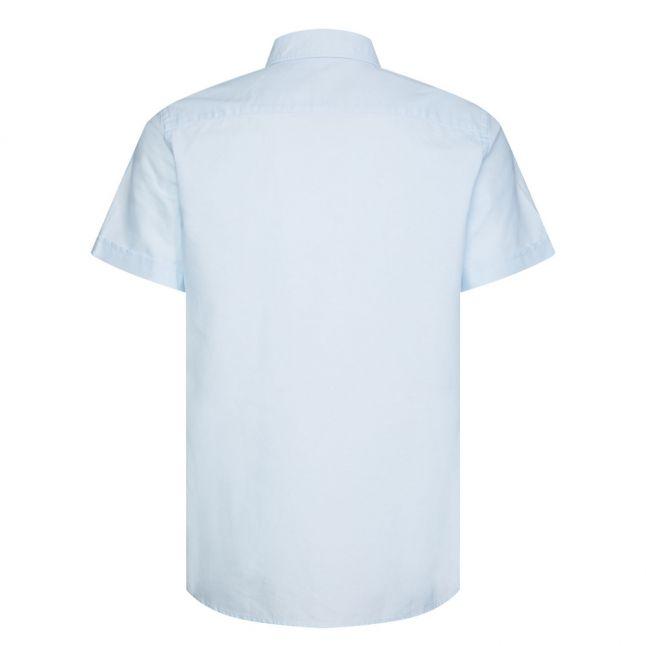 Mens Keepsake Blue Oxford Slim Fit S/s Shirt