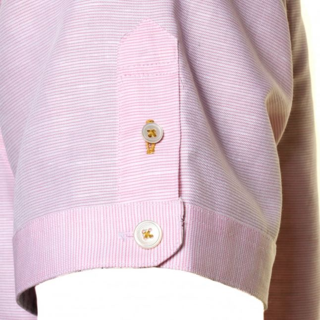 Mens Pink Mysong Stripe S/s Shirt