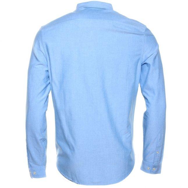 Mens Director Blue Oxford Slim Fit L/s Shirt