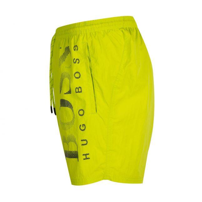 Mens Lime Octopus Side Logo Swim Shorts