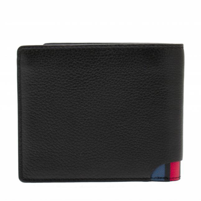 Mens Black Stripe Detail Bifold Wallet