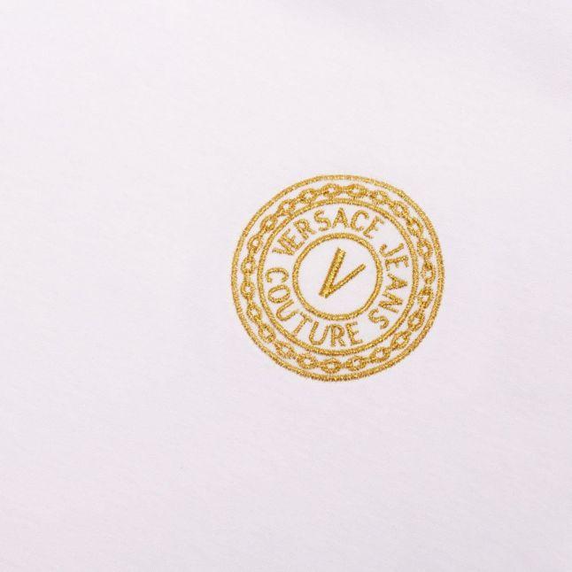 Mens White Small Logo Ringer Slim Fit S/s T Shirt