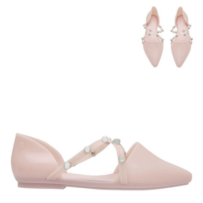 Womens Pink Blush Pointy Stripe Shoes