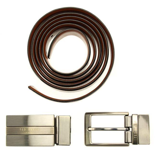 Mens Chocolate Revinit Boxed Belt Gift Set