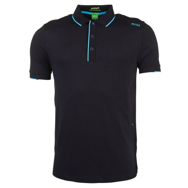 Mens Black Paule S/s Polo Shirt