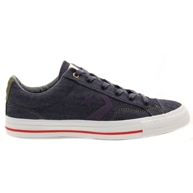 Mens Navy & Khaki Cons Denim Star Player