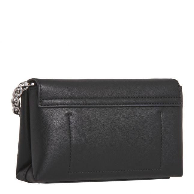 Womens Black Re-Lock Flap Small Crossbody Bag