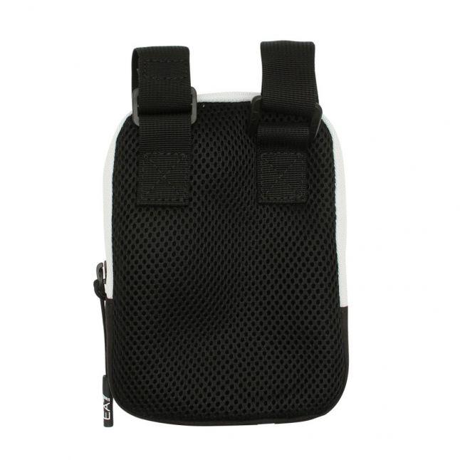Mens Black/White Mini Crossbody Bag