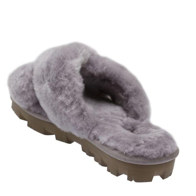 Womens Soft Amethyst Fuzzette Slide Slippers