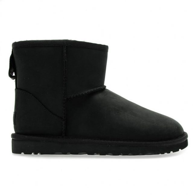 Womens Black Classic Mini Leather Boots
