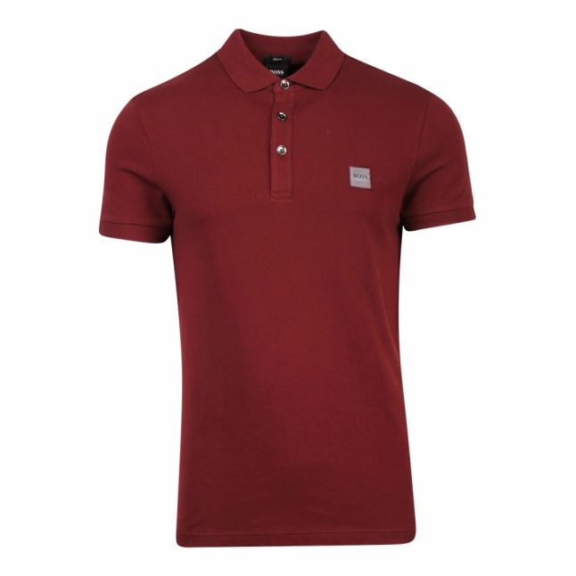 Casual Mens Burgundy Passenger Slim Fit S/s Polo Shirt