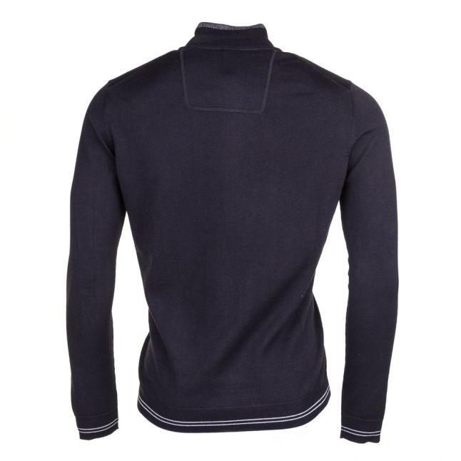 Mens Black Zime Half Zip Knitted Jumper
