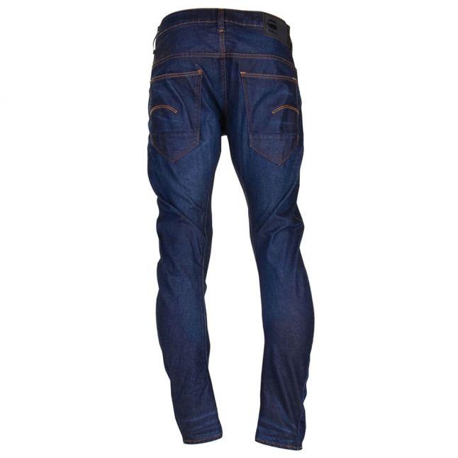 Mens Dark Aged Hydrite Arc 3d Slim Fit Jeans