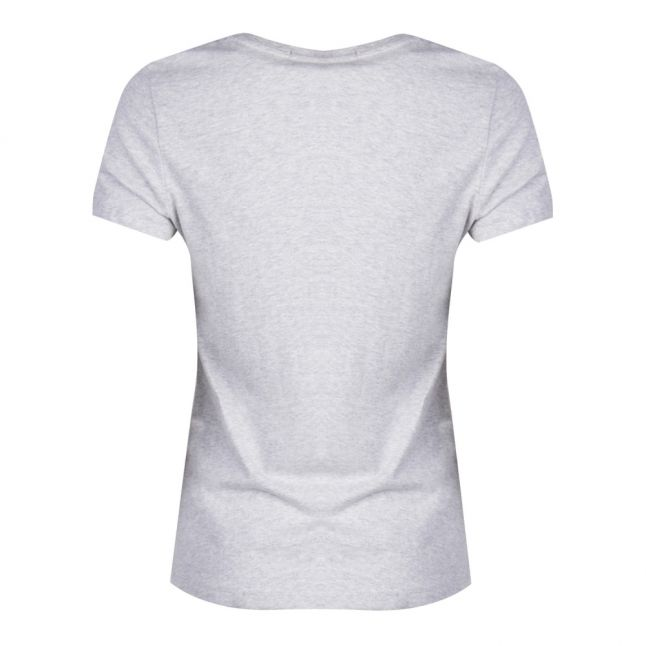 Womens Grey Heather Institutional Logo Slim Fit S/s T Shirt