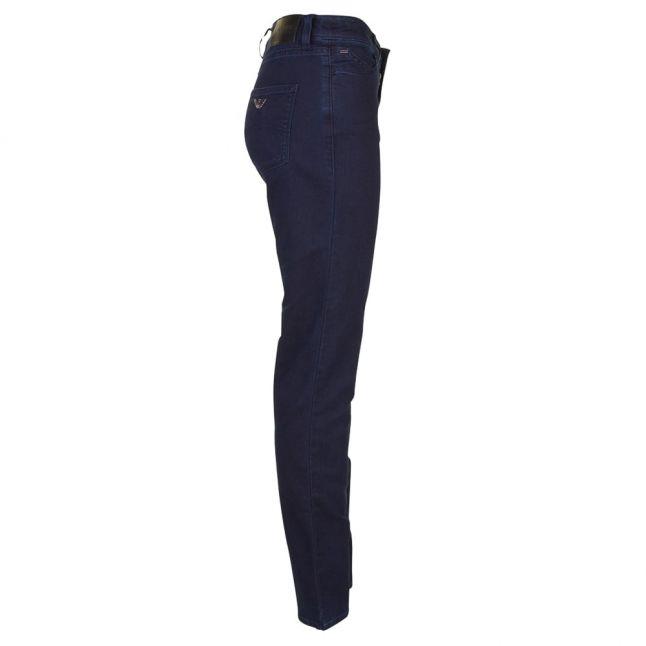 Womens Blue Wash J18 High Rise Slim Fit Jeans