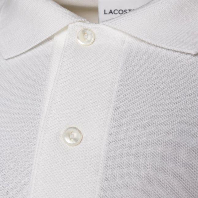 Mens White Classic L/s Polo Shirt