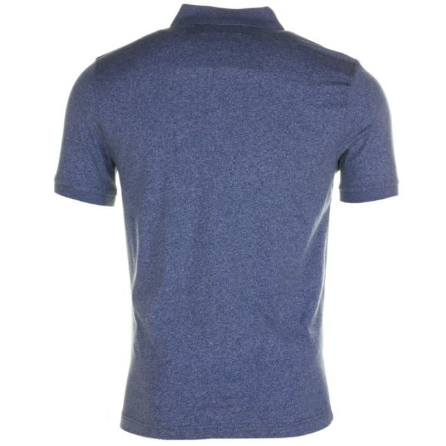 Mens Blue Wing Teal Jaspe Marl Slim Fit S/s Polo Shirt