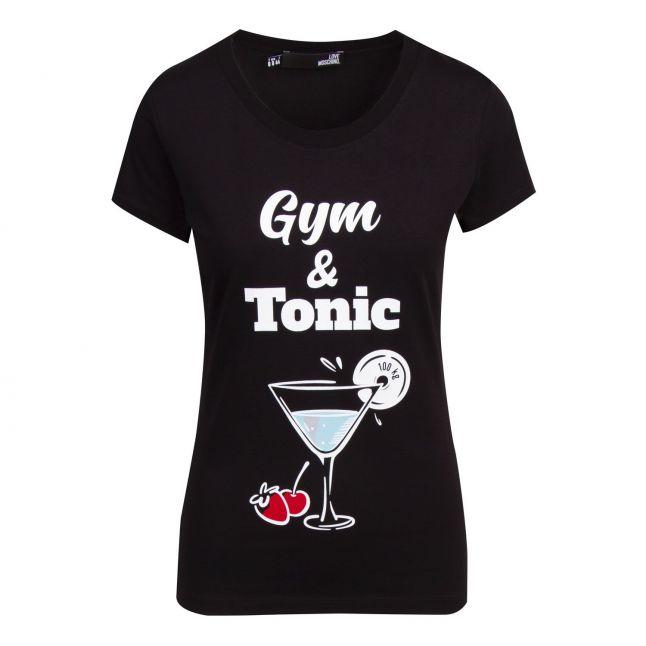 Womens Black Gym & Tonic S/s T Shirt