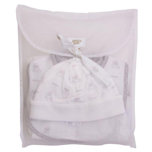 Baby White & Grey 5 Piece Gift Set