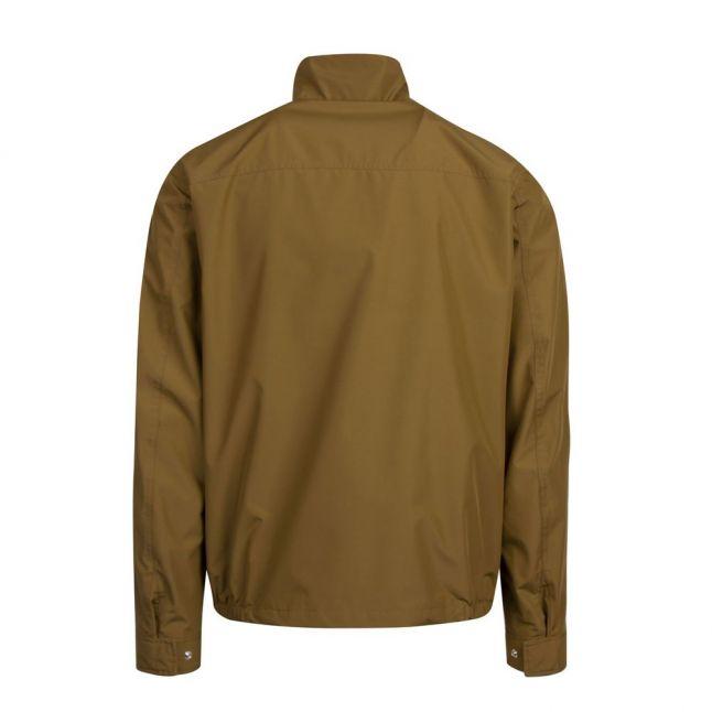 Mens Military Green Classic Zip Through Jacket