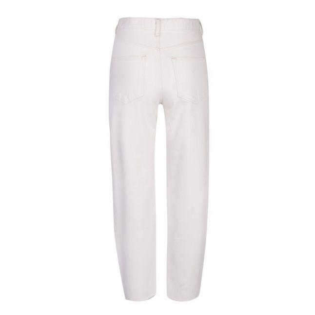 Womens White Ellra Barrel Leg Jeans
