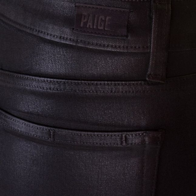 Paige Womens Black Fog Luxe Wash Hoxton Ankle Length Coated Jeans