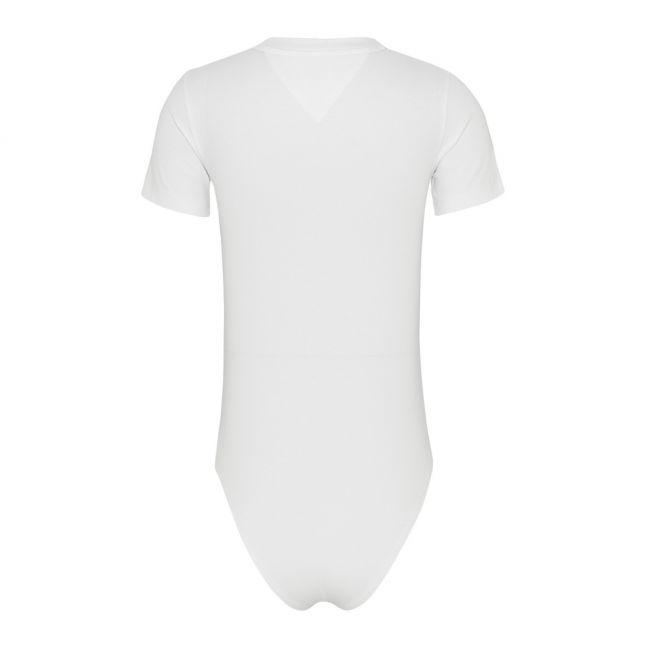 Womens White Logo S/s Bodysuit