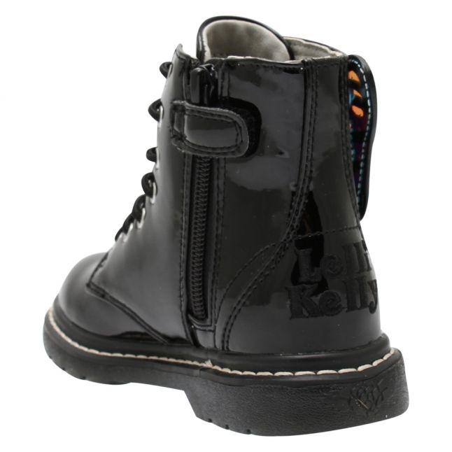 Girls Black Patent Ali Di Fata Fairy Wings Boots (28-37)